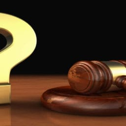 Question Mark and Judge's gavel - Mintz & Geftic - NJ Personal Injury Lawyers